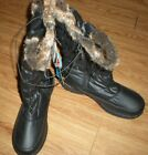 TOTES W Bunny Weather Protectors Boots Womens 9W Black