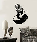 Vinyl Wall Decal African Native Woman Turban Mother With Baby Stickers 2151ig