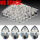 50x Clear Chandelier Glass Crystal Lamp Prism Pendant Hanging Drops Home Decor
