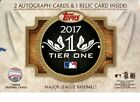 2017 Topps Tier One Hobby Box - Factory Sealed - 3 Hits - Judge? .