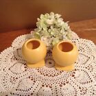 Vintage candle holders yellow ball bulb