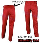 Nike Flat Front Khaki Pants Relaxed Fit Mens Golf Trousers Red 34 32 639779