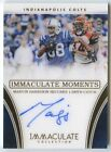 Marvin Harrison 2016 immaculate collection moments Colts auto autograph 4 10