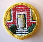 Rare Vintage Girl Scout HOMEMAKER BADGE House Front Door Home Patch