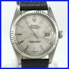 ROLEX 16014 OYSTER PERPETUAL DATEJUST QUICKSET 18K WHITE GOLD BEZL SS MENS WATCH