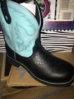 Justin L9905 Boots Blue And Black Country Western Sz 10 Womens