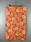 Vintage Cannon Monticello Pink Orange Daisy Standard Pillow Case Set Muslin
