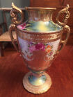 Antique Nippon Hand painted Moriage Urn Vase