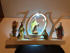 Ganz Joy Light Up Nativity Collectable Christmas Gift Decoration