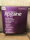 NEW Women Rogaine Unscented Topical Solution 3 Month Supply 3 Bottles JAN 2020