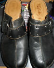 LADIES BLACK SLIDES CLOGS SHOES BY BORN SIZE 9 M