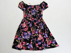 NWT Justice Kid Girls Size 7 8 10 or 12 Pink  Purple Flower Smocked Dress