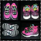 Fila Girls Youth Athletic Shoes Size 11 Pink Multi Color Green Yellow Black New