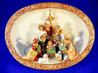 ABOUT 9 TALL BY 10 1 2 WIDE POTTERY NATIVITY VOTIVE OR CANDLE HOLDER