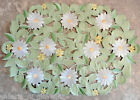Field of Daisies Lace Placemat Doily Daisy Green