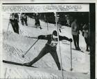 1960 Press Photo Nancy Green of Canada in Olympic Slalom at Squaw Valley Idaho