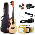 Electric Concert Ukulele With Amp  23 Acoustic Electric Ukulele Beginner Kit