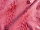 lambskin leather hide skin Large Burgundy on Red Wine Snake Skin Reptile print