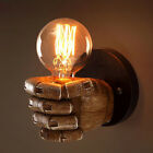 Industrial Age Vintage Fist Resin Wall Lights Aisle Balcony Light Retro Bed Lamp