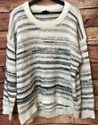 NWT CALVIN KLEIN LADIES MARLED SWEATTER LARGE MARSHMALLOW