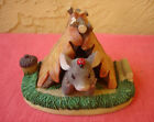 Charming Tails Fitz & Floyd Mouse Camping Out Figurine Autumn Leaves Acorn