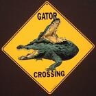 GATOR CROSSING SIGN aluminum picture alligators decor novelty signs home animals