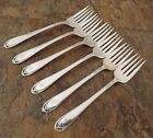 IS Lovelace Set of 6 Salad Forks Fork 1847 Rogers Silverplate Flatware Lot Q