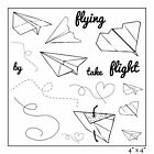 Maya Road Paper Airplanes Stamp Sheet 4 by 4 Inch Clear