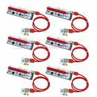 6PC VER 008s PCI E 16x to 1x Powered Riser GPU Adapter Card 60cm USB 30 Cable