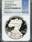 2018 W Silver Eagle First Day Of Issue NGC PF69 Ultra Cameo  IN STOCK