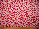 Valentines Day Fabric By The Yard Pink Red Hearts on White Studio E Cotton 53