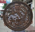 Old Chinese Huanghuali Wood Hand-Carved Phoenix Peony flower auspicious screens