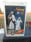 TPI Lighted Blowmold Christmas Nativity Set Joseph and Mary with Baby Jesus
