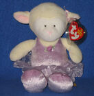 TY ARABESQUE the BALLERINA LAMB BEANIE BABY - MINT with MINT TAGS