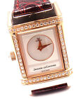 Authentic! Jaeger LeCoultre Reverso Duetto 18k Rose Gold Diamond Watch 266.24.4