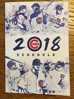 Chicago Cubs 2018 Cubs Convention Edition Pocket Schedule