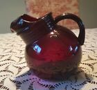 Anchor Hocking Royal Ruby Red Tilted Ball Pitcher