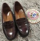 GH BASS CO WEEJUNS Brown Red Penny Loafer Wayfarer Leather Shoes Womens 65