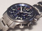 BREMONT PILOT ALT1-P/BL CHRONOMETER AUTOMATIC CHRONOGRAPH, BOXES/PAPERS,BRACELET