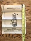 Antique Wolf Safety Lamp Co of America Railroad Lantern Miners Instructions