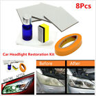 8Pcs Autos Head Lamp Lens Restores Clarity Car Styling Headlight Restoration Kit