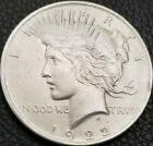 1922 Silver Peace Dollar MS Condition Die Crack By Neck US Coins AK3890