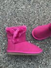 NEW pink fur TCP girl youth 1 boots CHILDRENS PLACE