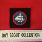 Boy Scout Sea Explorer Long Cruise Badge On Navy Blue Felt