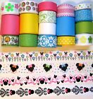 SALE MINNIES GARDEN GROSGRAIN RIBBON 21 YD LOT 3 8 WIDE TO 1 1 2 WIDE
