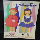 VINTAGE DOLL PAPER UNCUT TWO KID LITTLE GIRL 1969 COVER ART CUTOUT BOOK HOME TOY