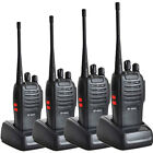 4 * Baofeng BF-666S UHF 400-470MHz Two Way Radio Walkie Talkie Flashligh
