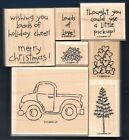 LOADS OF LOVE SET Pick Up Truck Words Stampin Up Holiday Valentine Rubber Stamp