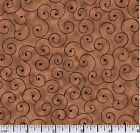 Quilting fabric Tilt a Whirl Brown 100 Cotton BY THE YARD