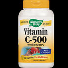 Nature's Way - Vitamin C500 with Rose Hips 250 Capsules 40311 Exp.11.19+ SD2